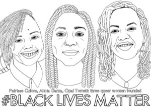 Coloring Page of Black Lives Matter Founders